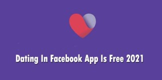 Dating In Facebook App Is Free 2021
