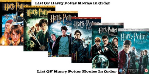 List OF Harry Potter Movies In Order