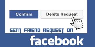 Sent Friend Request on Facebook