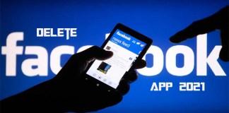 Delete Facebook App 2021