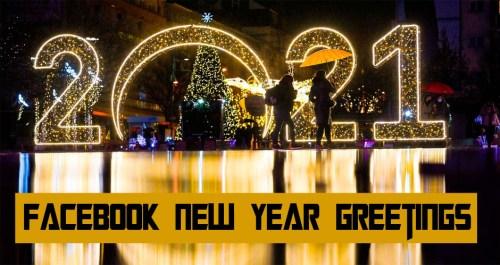 Facebook New Year Greetings
