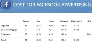 Cost For Facebook Advertising