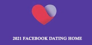2021 Facebook Dating Home