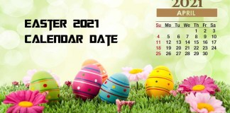 Easter 2021 Calendar Date