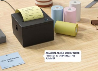 Amazon Alexa Sticky Note Printer is Shipping this Summer