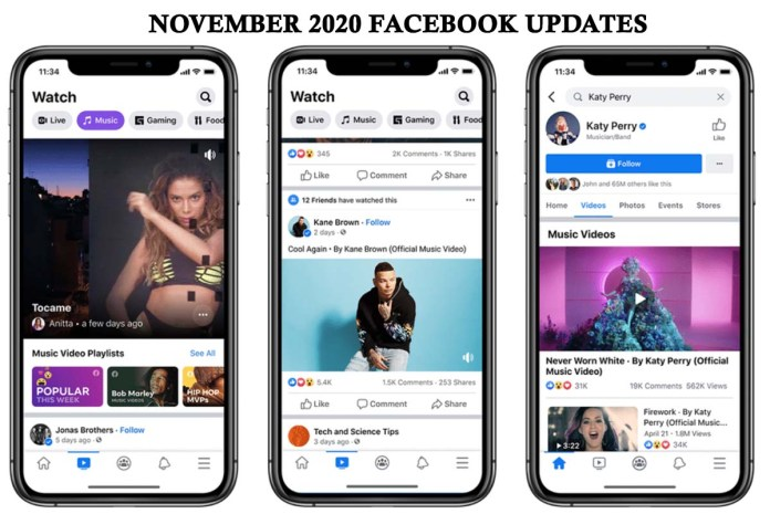 November 2020 Facebook Updates