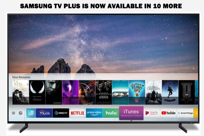 Samsung TV Plus is Now Available in 10 More Countries