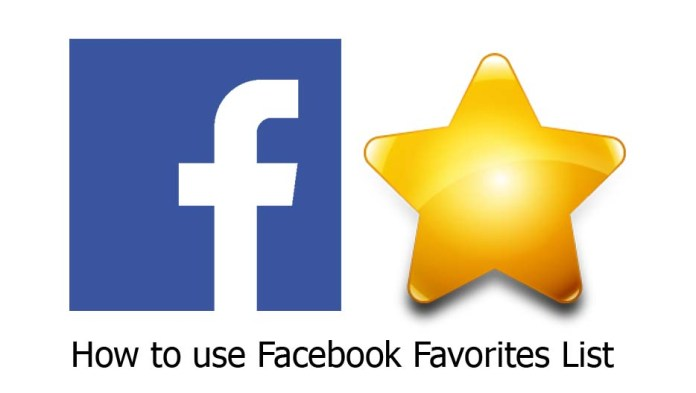 How to use Facebook Favorites List