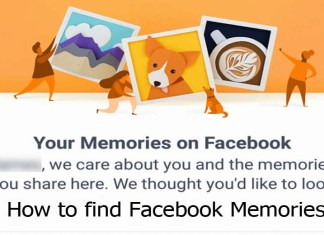 How to find Facebook Memories