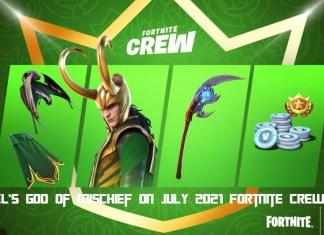 Marvel's god of Mischief on July 2021 Fortnite Crew Pack