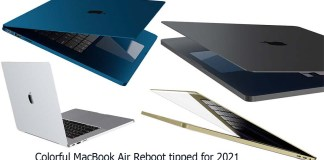 Colorful MacBook Air Reboot tipped for 2021