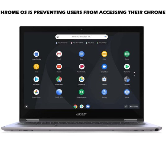 New Chrome OS is Preventing Users from Accessing Their Chromebook