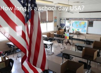 How long is a school day USA?