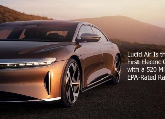 Lucid Air Is the First Electric Car with a 520 Mile EPA-Rated Range