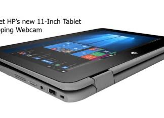 Meet HP's new 11-Inch Tablet Flipping Webcam