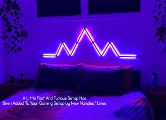 A Little Fast And Furious Setup Has Been Added To Your Gaming Setup by New Nanoleaf Lines