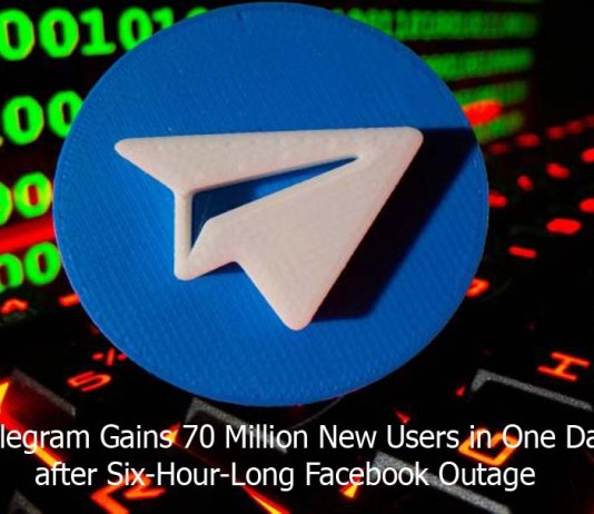 Telegram Gains 70 Million New Users in One Day after Six-Hour-Long Facebook Outage