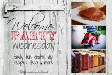 Welcome Party Wednesday; www.makeoversandmotherhood.com