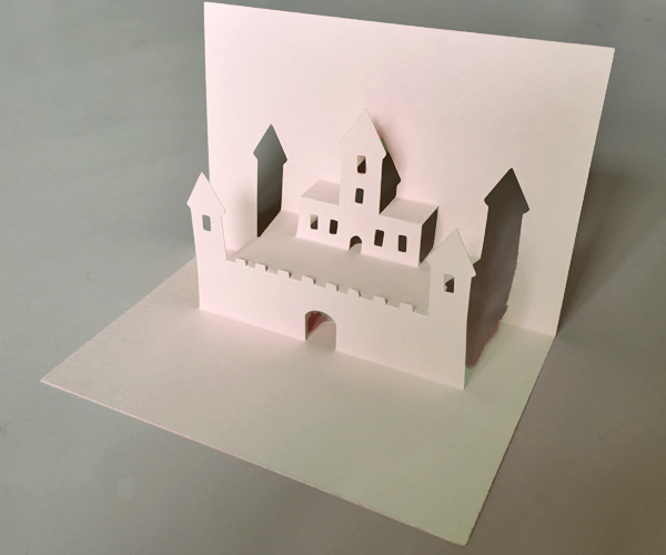 Castle Pop Up Card Template Easy DIY Paper Craft Project