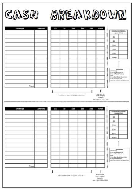 2019 Printable Coloring Budget Sheets 12 Month Set (Bi