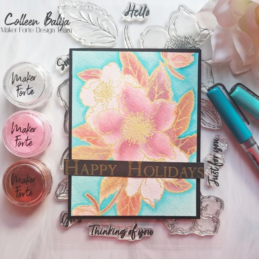 Shiny Christmas Cards using Kaleidoscope Powders