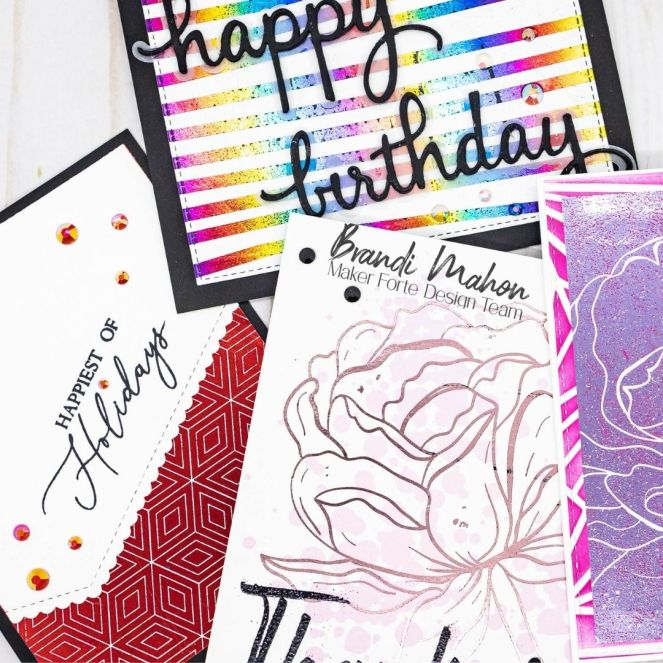 Create Foiled Backgrounds with Rosey Days Patterned Paper