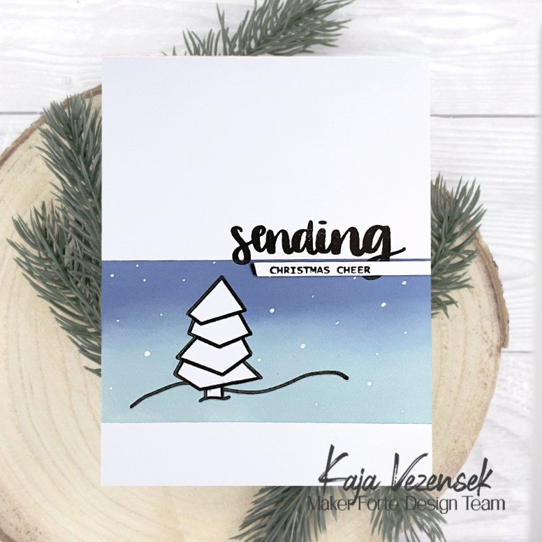 Quick and Simple Christmas Card with Kaja