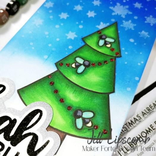 Bah HUMBUG Slimline Christmas Card