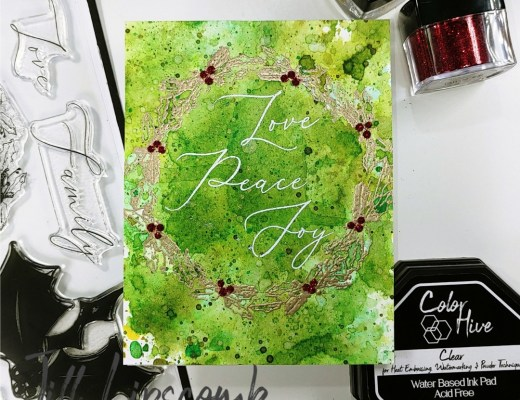 Modern Christmas Watercolor Ink Smooshing