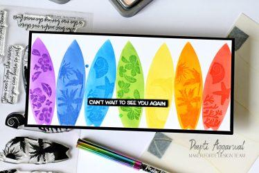 Surfboard Slimline Card