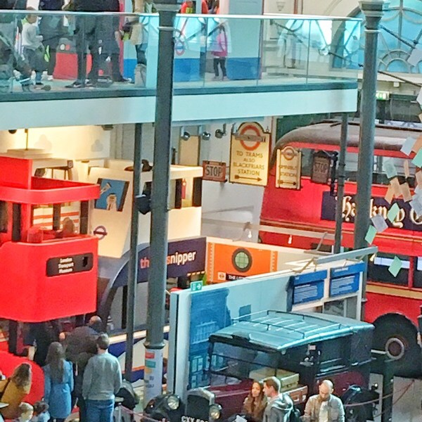London transport museum – what a kid friendly place.