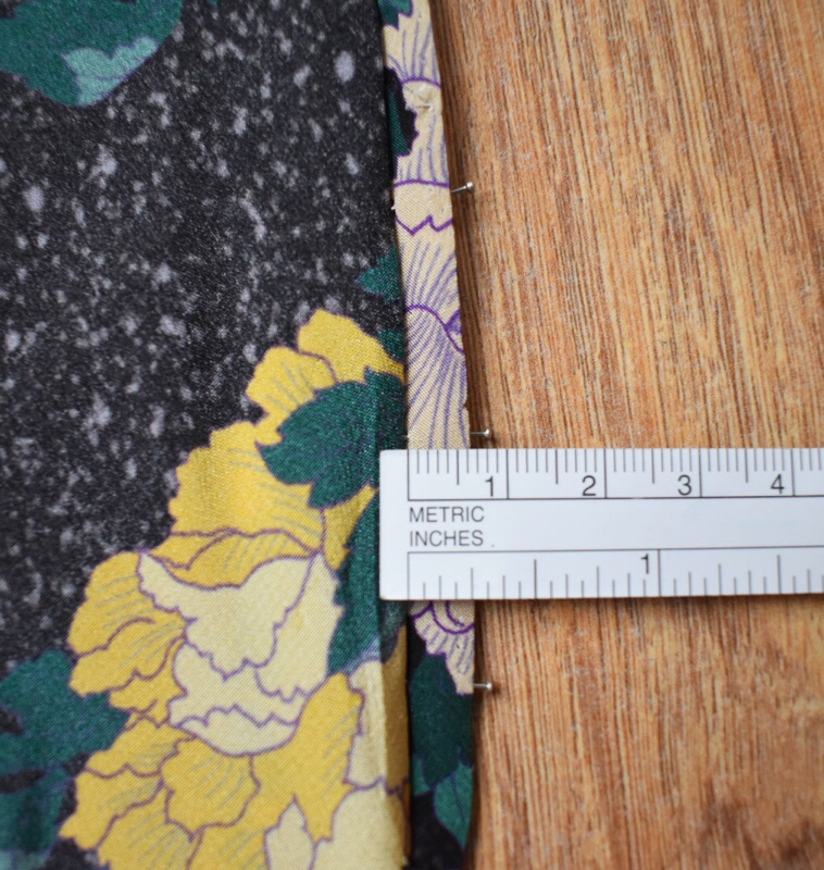 turning over to check invisible stitch