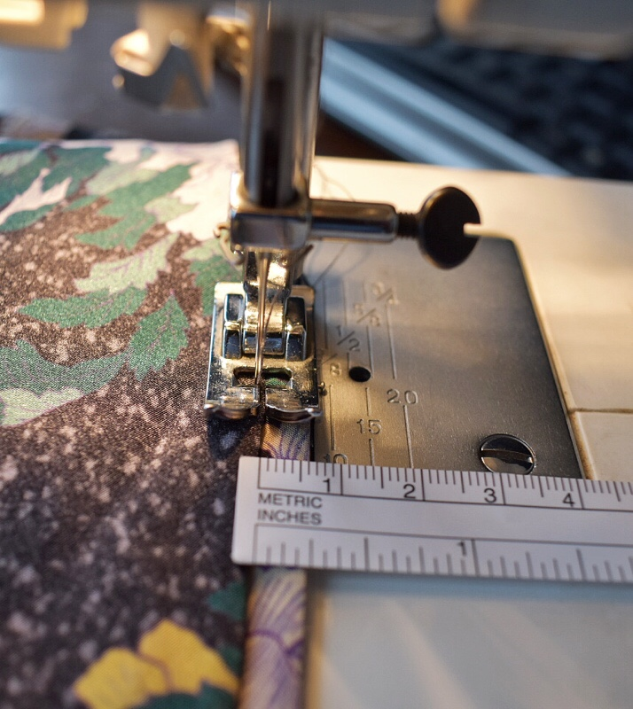 using ordinary foot for invisible stitch