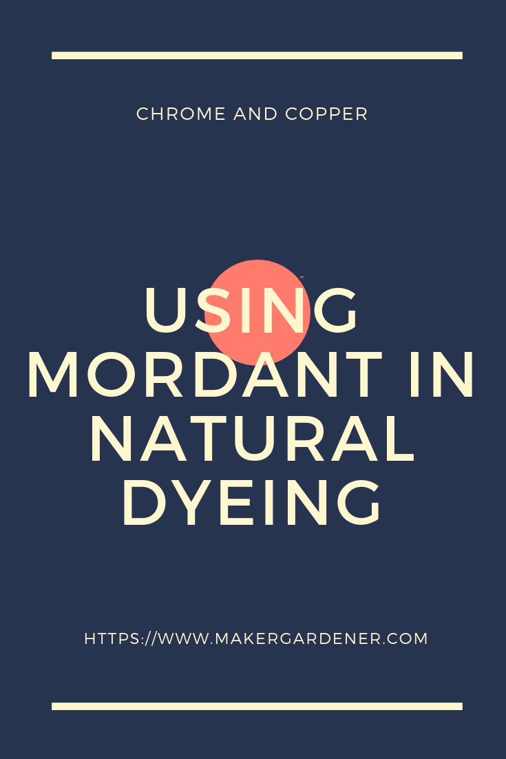 mordant natural dyeing