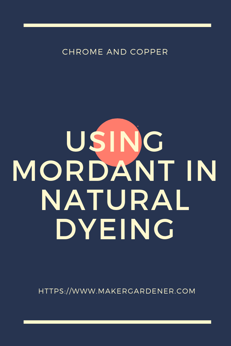mordant natural dyeing