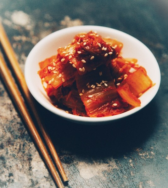 Green tomato kimchi