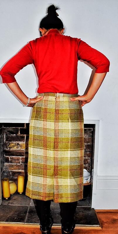 tweed skirt
