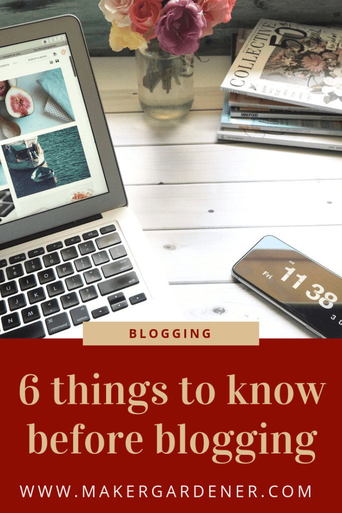 6 things to know before blogging