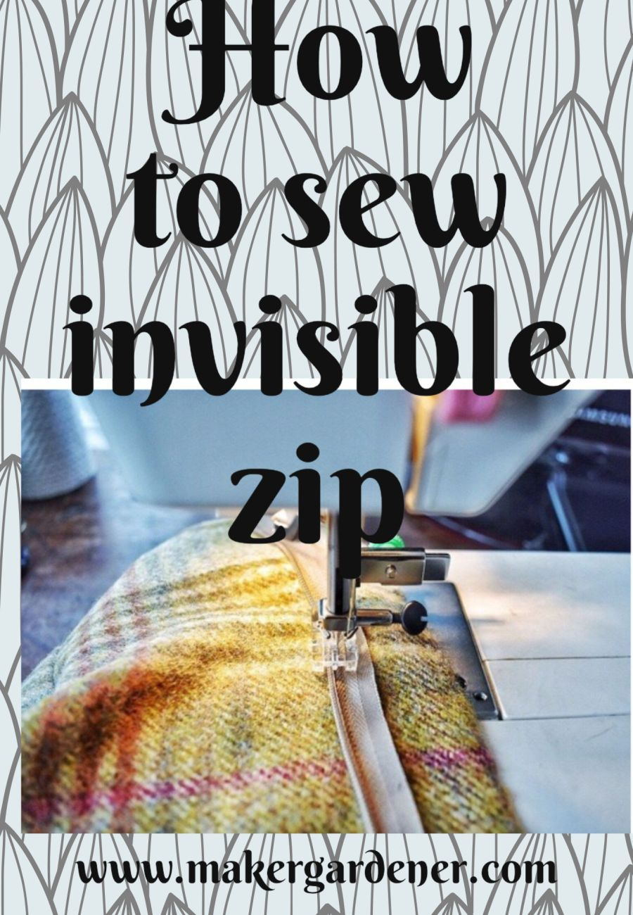 how to sew invisible zip