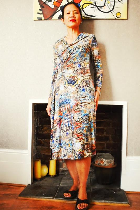 wraparound dress with sleevs