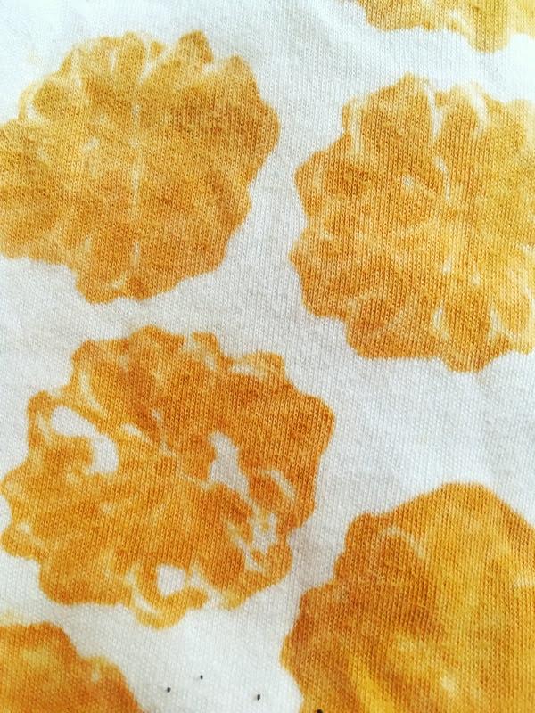 block printing on fabric
