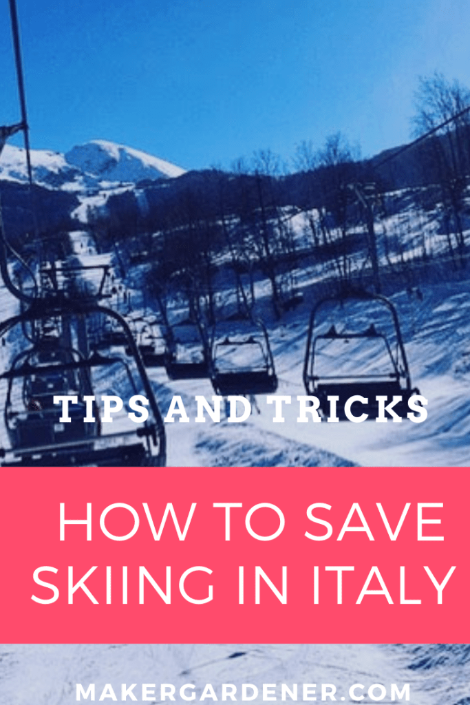 how to save  money skiing in Italy