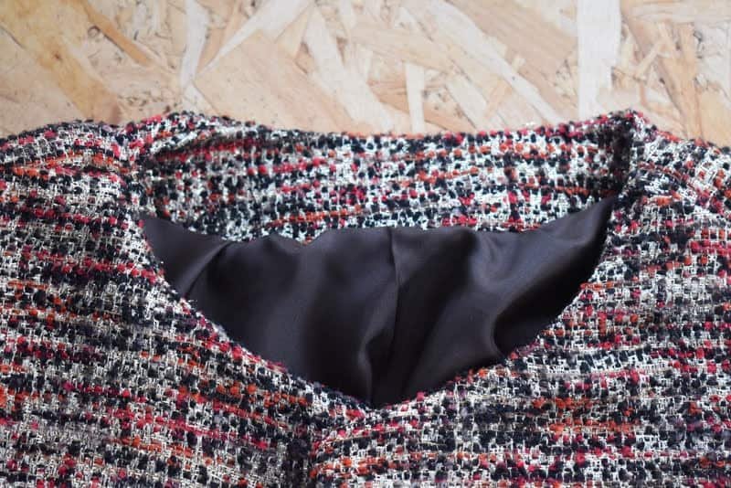 boucle fabric jacket