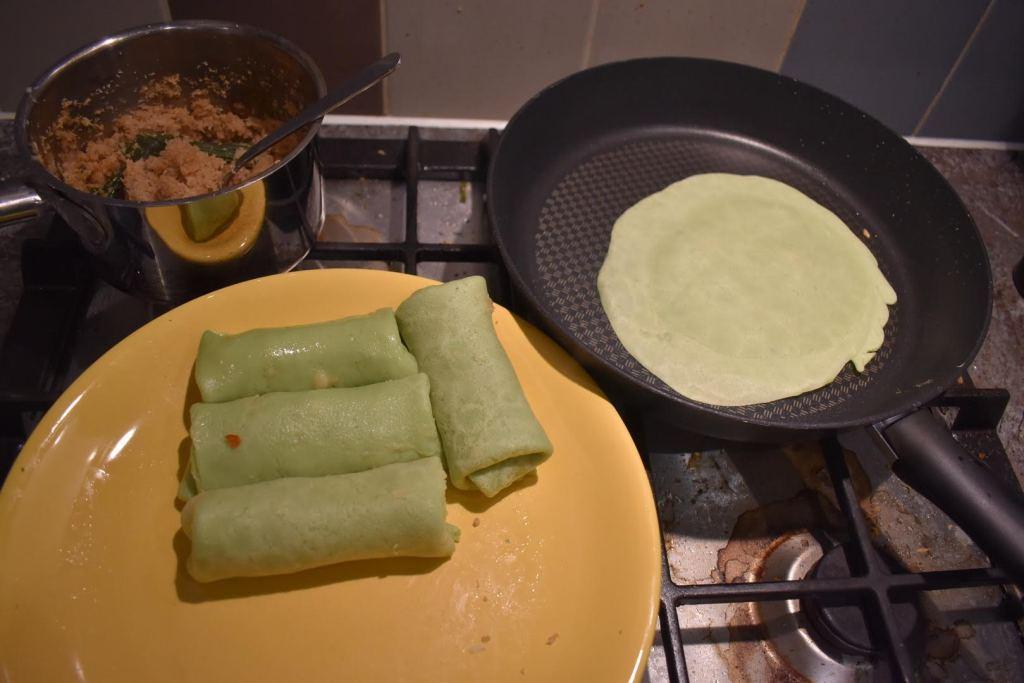Coconut pancake (kuih Ketayap)