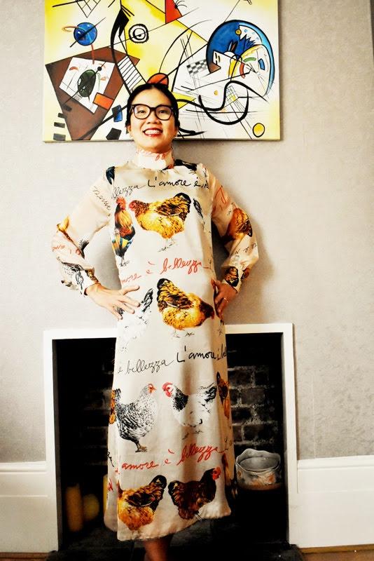 sewing sheer organza dress