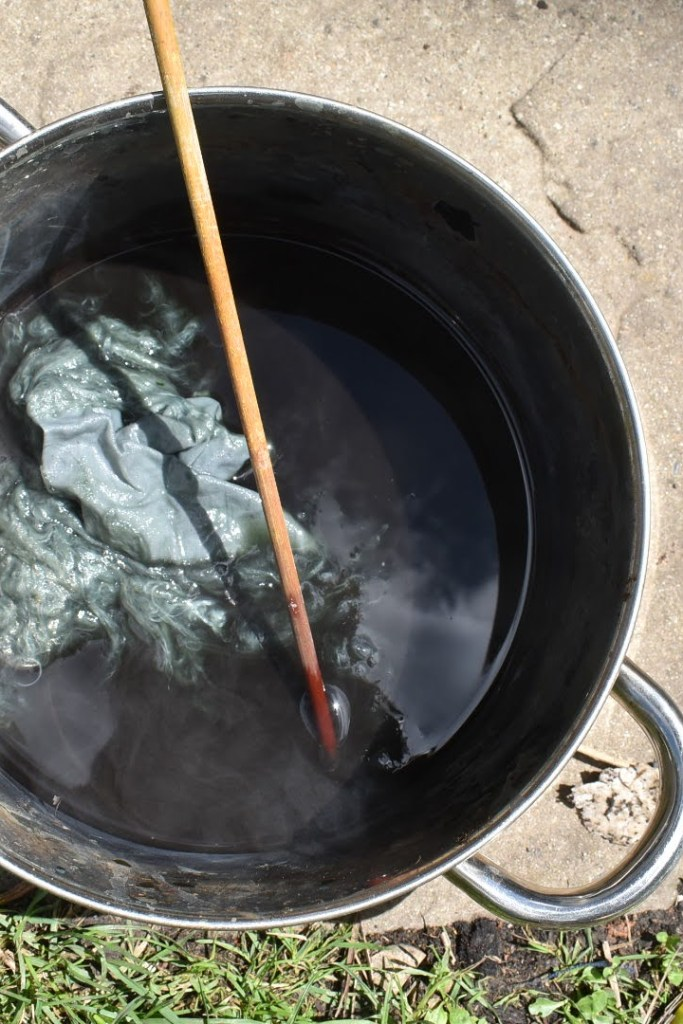 How to extract blue dye from woad