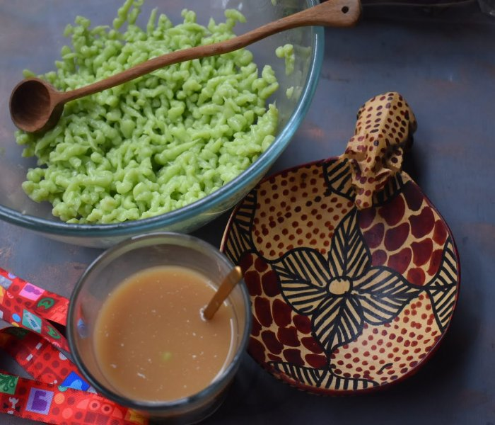 Cendol homemade from scratch at home