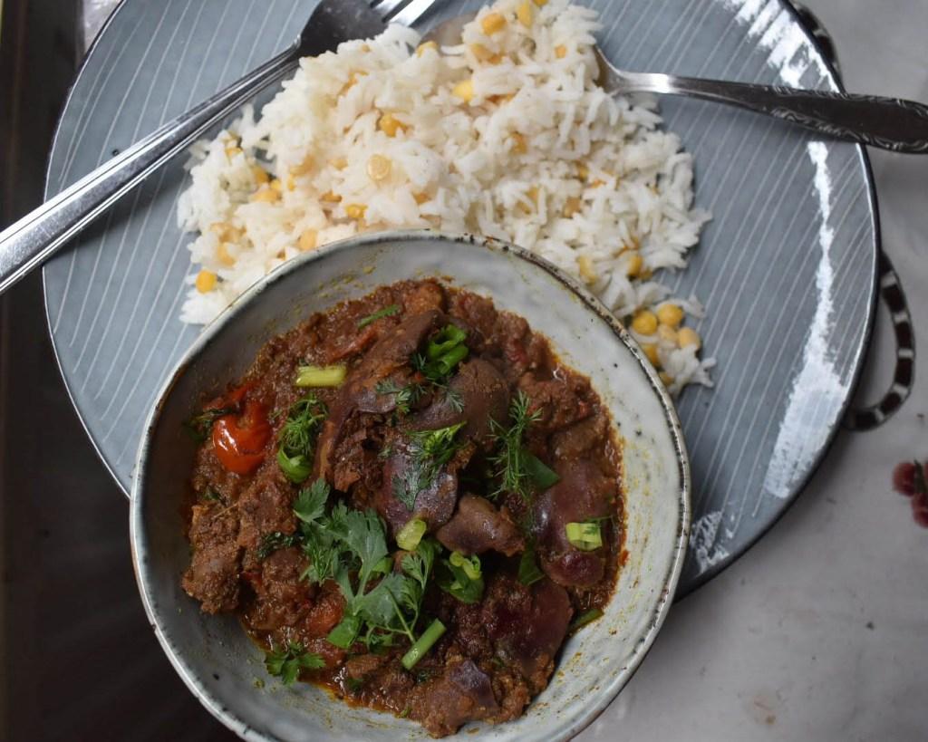 Chciken liver curry