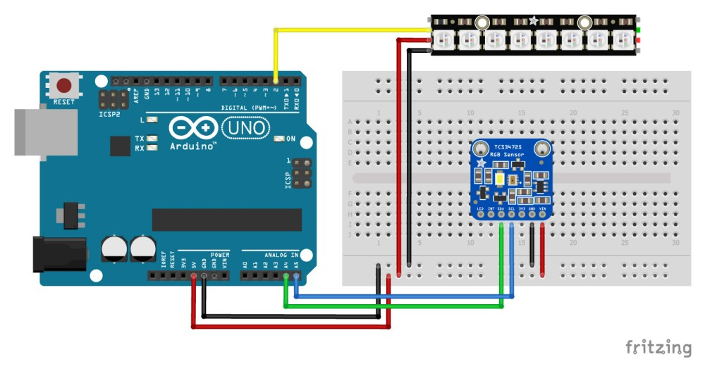 medium resolution of tcs34725 with arduino and neopixel stick wiring diagram