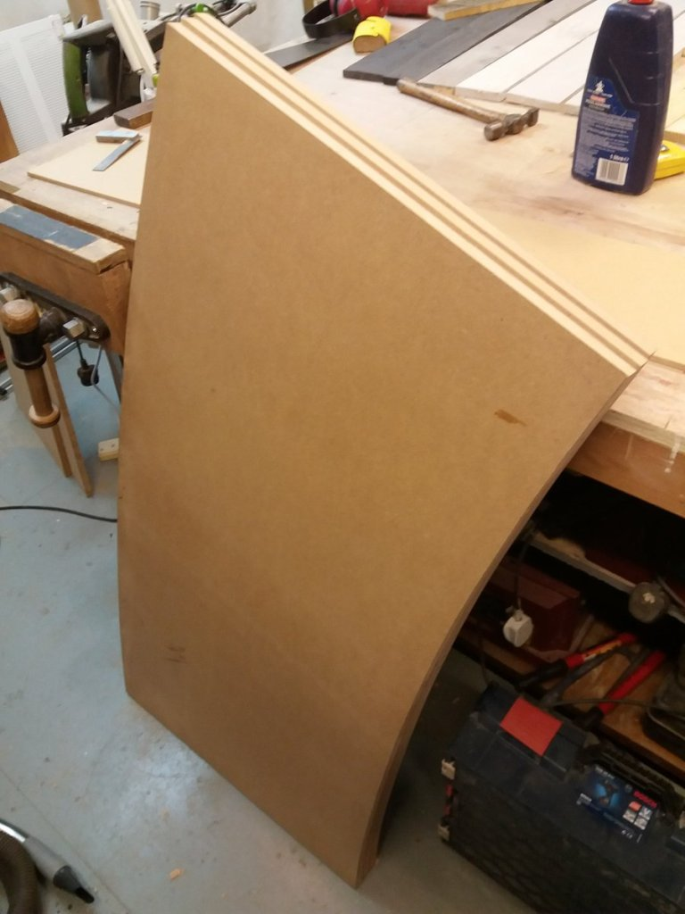 curved desk top sections